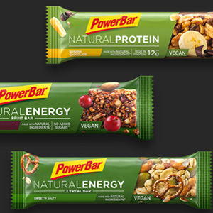 Barrita PowerBar Natural Protein, sin lactosa, vegana y con ingredientes naturales